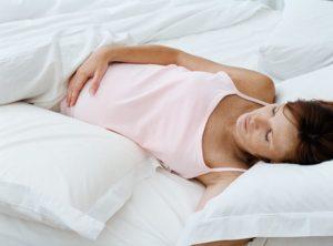 На спине спать можно беременной