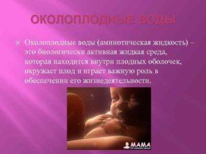 Воды дисперсные при беременности