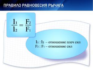 Формула рычага в физике