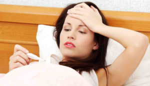 Температура при беременности 37 и болит горло