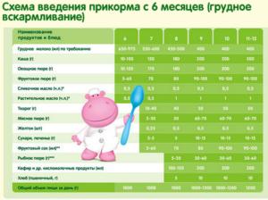 Прикорм ребенка на грудном вскармливании в 7 месяцев