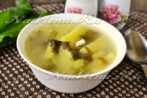 Суп щавелевый при гв