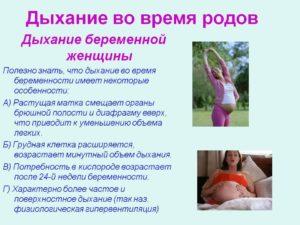 Как нужно дышать во время схваток и родов