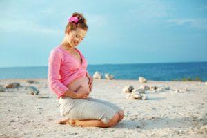 Во время беременности на море