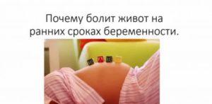 Болит желудок на раннем сроке беременности