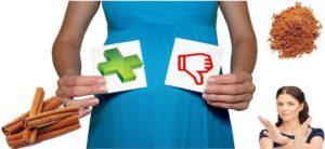 При беременности можно корицу