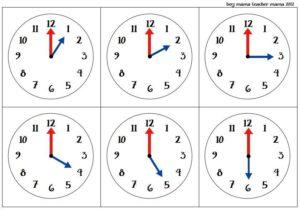 Определи время по часам картинки