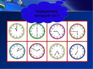 Часы для изучения времени детям
