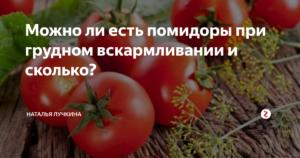 Можно ли помидоры кормящей маме в первый месяц