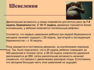 Во сколько начинается шевеление ребенка у беременной
