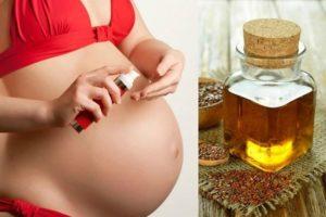 Масло льна при беременности