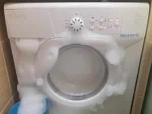 Если в стиральной машине много пены что делать