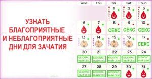 Калькулятор благоприятные дни для зачатия