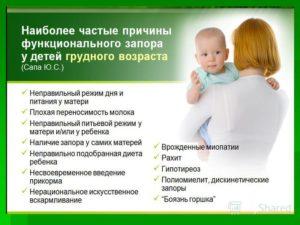Запор у 3 месячного ребенка на грудном вскармливании