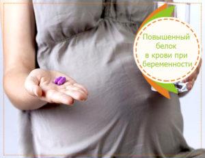 Белок у беременных низкий