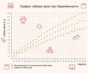Рассчитать набор веса при беременности