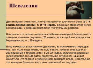 Активное шевеление плода на 37 неделе беременности