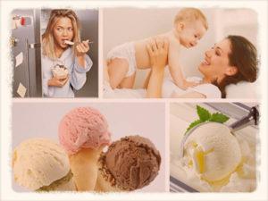 Можно кормящим мамам мороженое