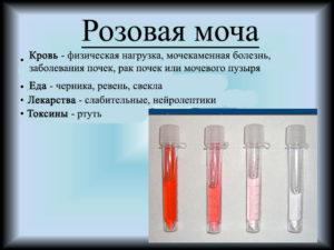 Беременность моча розового цвета