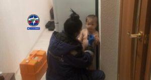 Оставила ребенка одного в квартире