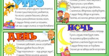 Как объяснить ребенку время суток
