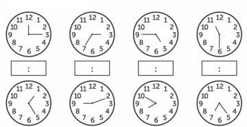 Изучаем часы и время тренажер